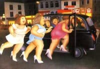 Girls in a Taxi
