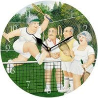 Mixed Doubles Beryl Cook Wall Clock