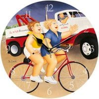 Wheels Beryl Cook Wall Clock