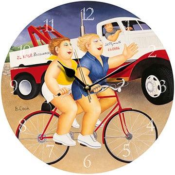 Wheels Beryl Cook Wall Clock