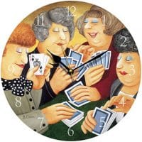 A Full House Beryl Cook Wall Clock