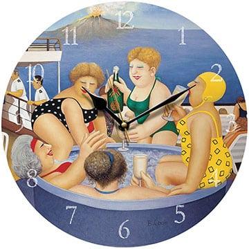 Cruising Beryl Cook Wall Clock