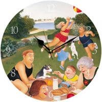 Picnic at Mt Edgecumbe Beryl Cook Wall Clock