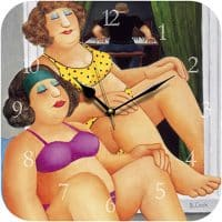 Tan Time Beryl Cook Wall Clock