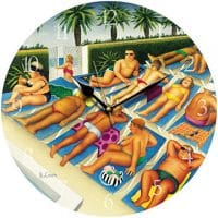 Tenerife Days Beryl Cook Wall Clock