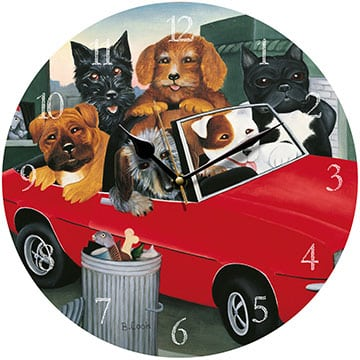 Top Dogs Beryl Cook clock