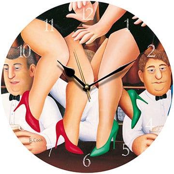 Dancing on the Bar Beryl Cook clock