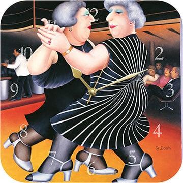 Dancing on the QE2 Beryl Cook Wall Clock