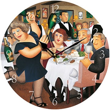 Dining Out Beryl Cook Wall Clock