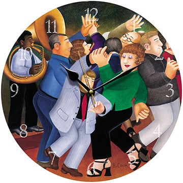Jiving to Jazz Beryl Cook Wall Clock
