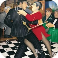 Tango Bar Beryl Cook Wall Clock