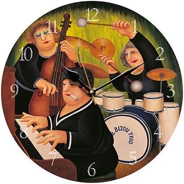The Bijou Trio Beryl Cook Wall Clock