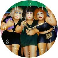 Clubbing in the Rain Beryl Cook Wall Clock