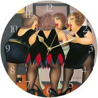 Getting Ready Beryl Cook Wall Clock