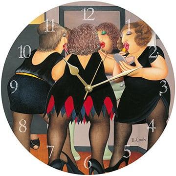 Getting Ready Beryl Cook Wall Clock