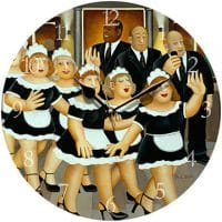 Girls Night Out Beryl Cook Wall Clock