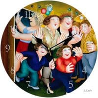 Girls On The Town Beryl Cook Wall Clock