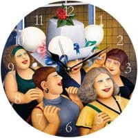Hen Party Beryl Cook Wall Clock