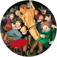 Ladies Night Beryl Cook Wall Clock