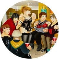 Party Girls Beryl Cook Wall Clock