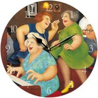 Song and Dance Beryl Cook Wall Clock