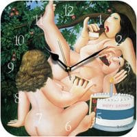 Birthday Cake Beryl Cook Wall Clock