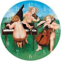 Meadow Suite Beryl Cook Wall Clock
