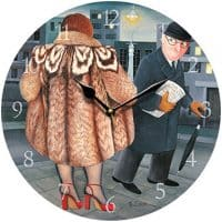 My Fur Coat Beryl Cook Wall Clock