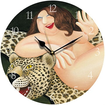Nude on a Leopardskin Beryl Cook Wall Clock