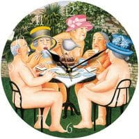 Naughty and Nude Tea in the Garden Beryl Cook Wall Clock