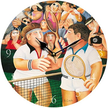 Mens Singles Beryl Cook Wall Clock