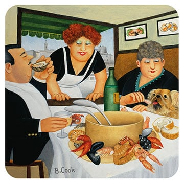 Bouillabaisse in Marseille Beryl Cook coaster